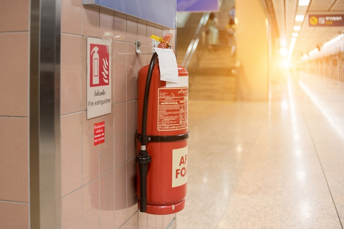 Fire Extinguisher Wall